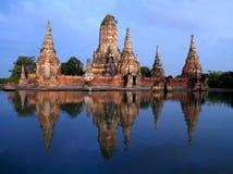 Wat Chai Wattana Ram är tempelet i Thailand. Royaltyfria Bilder