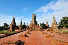 Wat Chai Wattanaram à Ayutthaya Images libres de droits