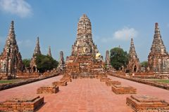 Wat Chai Wattanaram Stock Photo