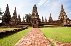 Wat Chai Wattanaram Imagen de archivo libre de regalías
