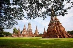 Wat Chai Wattanaram Fotografía de archivo libre de regalías