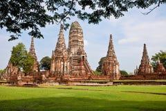 Wat Chai Wattanaram Foto de archivo libre de regalías