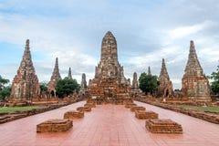 Wat Chai Wattanaram Stockbild
