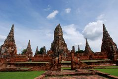Wat Chai wattanaram Stockbilder