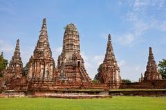 Wat Chai Wattanaram Ayuthaya Stockfotografie