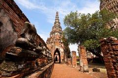 Wat Chai Wattanaram Ayuthaya, Tailandia foto de archivo libre de regalías