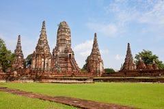 Wat Chai Wattanaram Ayuthaya, Tailandia Fotografía de archivo libre de regalías
