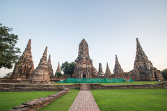 Wat chai wattanaram. In ayuthaya thailand Royalty Free Stock Photography