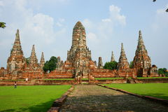 Wat Chai Wattanaram, Ayutthaya, Tailândia. Imagem de Stock