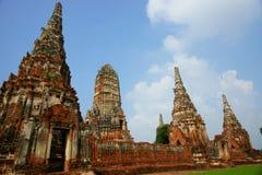 Wat Chai Wattanaram, Ayutthaya, Tailândia. Imagens de Stock Royalty Free