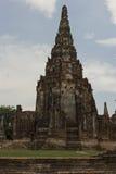 Wat Chai Wattanaram in Ayutthaya in Thailand. Ruins in Ayutthaya in Thailand Stock Photo