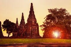 Wat chai wattanaram ayutthaya world heritage site of unesco thailand royalty free stock photography