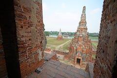 Wat Chai Wattanaram Stock Photo