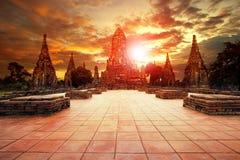 Wat chai wattanaram most popular traveling destination in ayutth Stock Photography