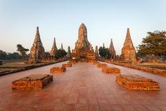 Wat chai wattanaram, Old temple temple in Ayutthaya Stock Image