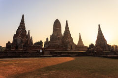 Wat chai wattanaram, Old temple temple in Ayutthaya Royalty Free Stock Photos
