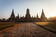 Wat chai wattanaram, Old temple temple in Ayutthaya Royalty Free Stock Images