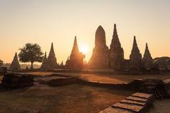 Wat chai wattanaram, Old temple temple in Ayutthaya Royalty Free Stock Photo
