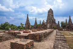 Wat Chai Wattanaram Stock Photos