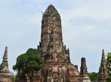 Wat Chai Wattanaram, templo antigo em Ayutthaya, Tailândia foto de stock