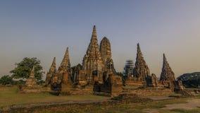 Висок Wat Chai Watthanaram стоковые изображения rf