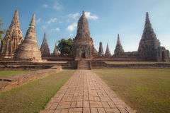 Wat Chai Watthanaram ,acient ruin Royalty Free Stock Image