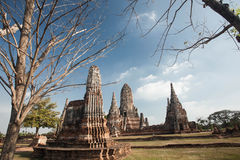 Wat Chai Watthanaram ,acient ruin Stock Images