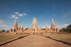 Wat Chai Watthanaram, acient Ruine Lizenzfreie Stockfotos