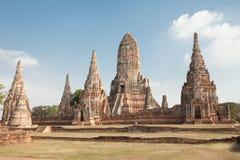 Wat Chai Watthanaram, acient Ruine Stockbild