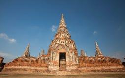 Wat Chai Watthanaram, acient Ruine Stockfotografie