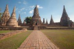 Wat Chai Watthanaram, acient Ruine Lizenzfreies Stockbild