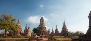 Wat Chai Watthanaram, acient Ruine Stockfotos
