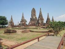 Wat Chai Watthanaram in Ayutthaya province Thailand Stock Photography