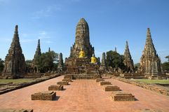 Wat Chai Watthanaram, Ayutthaya (Thailand) Royalty Free Stock Photo