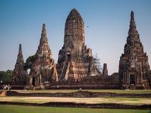 Wat Chai Watthanaram. royalty free stock photography