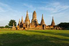 Wat Chai Watthanaram in Ayutthaya, Thailand Royalty Free Stock Photos