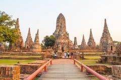 Wat Chai Watthanaram, Ayutthaya Thailand Stock Photography