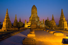 Wat Chai Watthanaram, Ayutthaya Thailand Stock Images