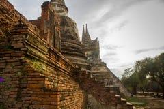 Wat Chai Watthanaram em Ayutthaya Foto de Stock