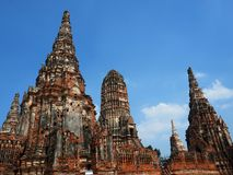 Chai Watthanaram Temple in Ayuthaya Historical Park Royalty Free Stock Image