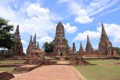 Wat Chai Watthanaram Temple Lizenzfreie Stockfotografie