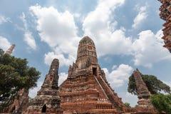 Wat chai watthanaram temple at ayutthaya in Thailand . stock images