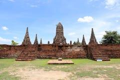 Wat Chai Watthanaram Temple Old Pagoda Stockbilder