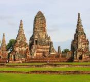 Wat Chai Watthanaram. In thailand Stock Photos