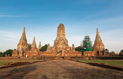 Wat Chai Watthanaram in Thailand. Front view from old temple in Thailand stock images