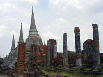 Wat Chai Watthnaram the historic temple in Ayutthaya Stock Photo