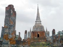 Wat Chai Watthnaram the historic temple in Ayutthaya Royalty Free Stock Photo
