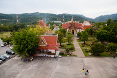WAT CHAITHARAM o TEMPIO di Wat Chalong a Phuket Tailandia Fotografie Stock