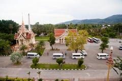 WAT CHAITHARAM o TEMPIO di Wat Chalong a Phuket Tailandia Fotografia Stock Libera da Diritti
