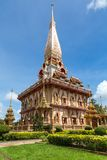 WAT CHAITHARAM, Phuket, Thailand Fotografering för Bildbyråer